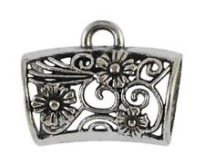 HUGE BAIL FOR SCARF PENDANT - ANTIQUED SILVER PLATED  - 32mm..............F732 *