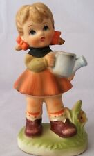 Vintage Figurine of a Hummel Look alike Girl with a Watering Can #F967