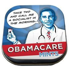 President ObamaCare Mints Breath Mints Box of 12 Illustrated Tins, NEW SEALED