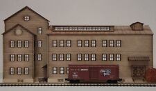 "Z SCALE BACKGROUND "" HUDSON DISTILLERY "" LASER CUT FULLY ASSEMBLED"