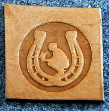 Praying Cowboy Leather Tooling Embossing / Clicker Stamp, Delrin, NEW #022