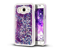 Flowing Liquid Bling Glitter Sparkle Stars Clear Hard Case For Samsung Phones