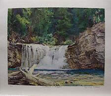 """W. J. Phillips Group of Seven friend LTD art print """"Woodland Waterfalls"""""""
