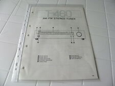 Yamaha Original Service Schematic T-460 Stereo AM/FM  Stereo Tuner