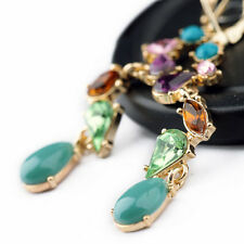 Jewelry Alloy Multicolor Long Drop Earrings for Charming Girl Factory Wholesale