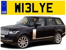W13 LYE BILL WILSON WILS WILLY WILL WELLS WILLIAMS WELLIE PRIVATE NUMBER PLATE