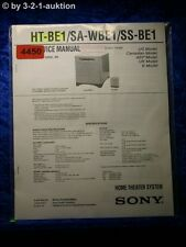 Sony Service Manual HT BE1 /SA WBE1 /SS BE1 Home Theater System (#4450)
