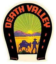 Death Valley- CA  California  Vintage-Looking Travel Decal/Luggage Label/Sticker