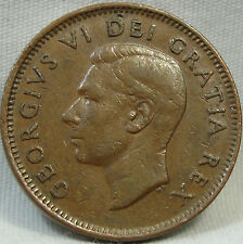 1949 1C A to Denticle Canada Cent, RARE KEY DATE, Canadian Penny, Copper, #386