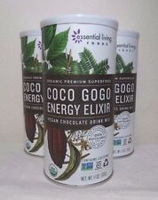 * 3 pack ELF Organic Coco Gogo Energy Vegan Chocolate Smoothie Mix, 11 oz each