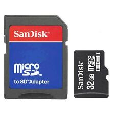 SanDisk 32GB Class 4 MicroSD/Micro SDHC/TF Flash Memory Card w/SD Adapter 32G
