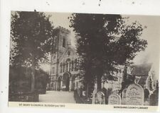 St Marys Church Slough pre 1913 Berkshire Library Repro Postcard 853a