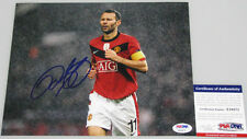 RYAN GIGGS Hand Signed Man Utd 8'x10' Photo + PSA DNA COA X10571