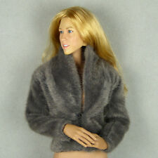 1/6 Phicen SS, Hot Toys, Kumik, ZC, Vogue Female Fahion Gray Color Fur Jacket