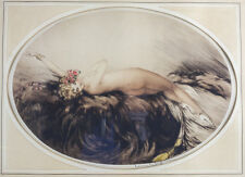 Louis Icart French 1888 - 1950 Colored Etching of a Reclining Nude, 1928