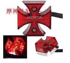 For Motorcycle Harley Chopper Bike Cross Rear Tail Brake License Plate LED Light