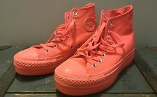 Naranja Brillante Converse All Star Hi Tops Talla 4.