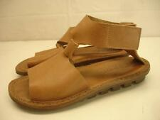 TRIPPEN Germany Womens 6.5 sz 37 Leather Sandals Tan Leather Ankle Strap T-Strap