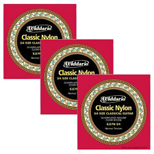 3 Sets D'Addario EJ27N 3/4 Student Nylon Fractional Classical Guitar Strings-NT