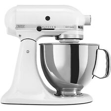 KitchenAid White 5-quart Artisan Stand Mixer RRK150WH Refurbished 5 Qt. BOXED!
