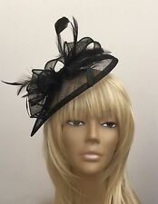 New Black Hatinator Fascinator Mother Of The Bride/Groom Weddings, Ascot Races