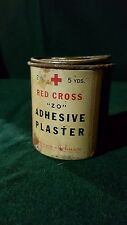 "Vintage Tin Red Cross Adhesive Plaster ""ZO"" Johnson & Johnson - Free Shipping"