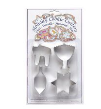 JUDAICA COLLECTIBLE JEWISH CHANUKAH HANUKAH CHILDRENS COOKIE CUTTERS SET OF 4 @@