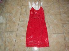 EB312  Sexy Lack ähnliches Pailletten Minikleid Kleid  Rot  Sehr gut