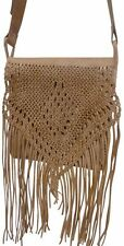 Moroccan Handmade Leather Fringe Crossbody X-Large Boho Bag
