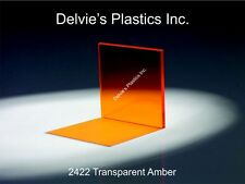 "1 Sheet 1/8"" Amber Cell Cast Acrylic Plexiglass  12"" x 24"""