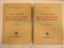 DIRITTO - Gaetano Sucato, ISTITUZIONI DIRITTO PENALE MILITARE 2 voll 1941 Roma