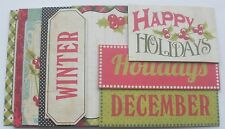 Journal Kit  - SEASON'S GREETINGS - Christmas - Chipboard Phrase Picture Cards