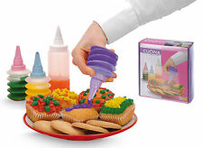 4 Piece Cake Cupcake Cookie Biscuits Decorating Icing Piping Bottle Kit Set