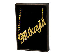 Name Necklace MIKAYLA - 18ct Gold Plated - Wedding Anniversary Gifts For Her