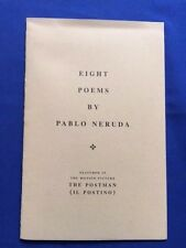 "EIGHT POEMS BY PABLO NERUDA - SPECIALLY PRODUCED FOR THE FILM ""THE POSTMAN"""