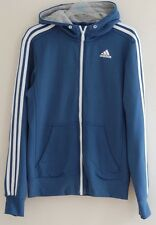 UNISEX ADIDAS RETRO BLUE URBAN WAVEY FESTIVAL HOODED ZIPPY JUMPER MENS S