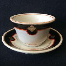 Tasse sous-tasse porcelaine dure de Paris inspiration Sèvres Louis-Philippe 1er