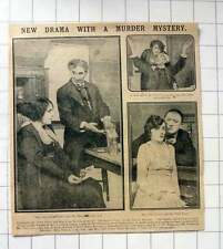 1915 New Drama, Murder Mystery, Fred Terry, Nell Carter The Argyle Case