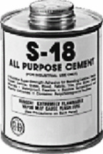 S-18 All Purpose Rubber-Base Cement - Quart can - Tarp Repair - Free Shipping
