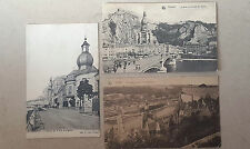 Lot 3 cartes postales CPA AK postcard postkaarten Belgique Dinant collection