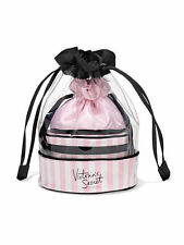 Victoria's Secret Travel Bag Stripe Bag Trio Iconic Pink White Jewerly bag Gift