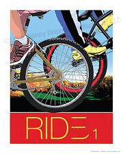 RIDE 1, Large Graphic Art Biking Print
