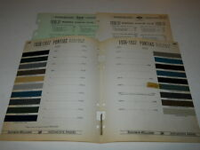 1938 PONTIAC PAINT CHIP CHART COLORS SHERWIN WILLIAMS PLUS MORE