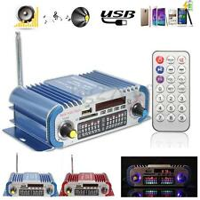 Mini HiFi Digital FM Radio USB SD Audio MP3 Player Car Power Amplifier w/Remote