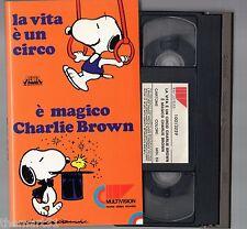 La vita è un circo è magico Charlie Brown  (1986) VHS Multivision - Peanuts
