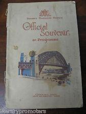 SYDNEY HARBOUR BRIDGE OFFICIAL SOUVENIR & PROGRAMME Opening Date 19th March 1932