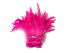 1 Yard - Hot Pink Dyed Strung Rooster Schlappen Wholesale Feathers (Bulk)