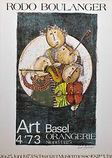 Rodo Boulanger/Lithographie/type Bâle serre/avec poinçonnage de pression/signée/1973