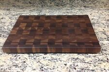 Black Walnut Butcher Block Cutting Board New End Grain 12 X 18 Sap Pattern