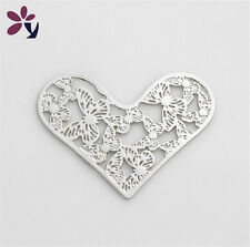 New Floating charm 28mm Butterfly silver Heart for glass Living Memory Locket